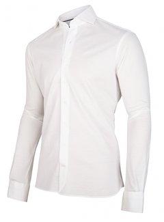 Cavallaro Napoli Overhemd Jersey Lange Mouw Justo Wit (110211000-100000)