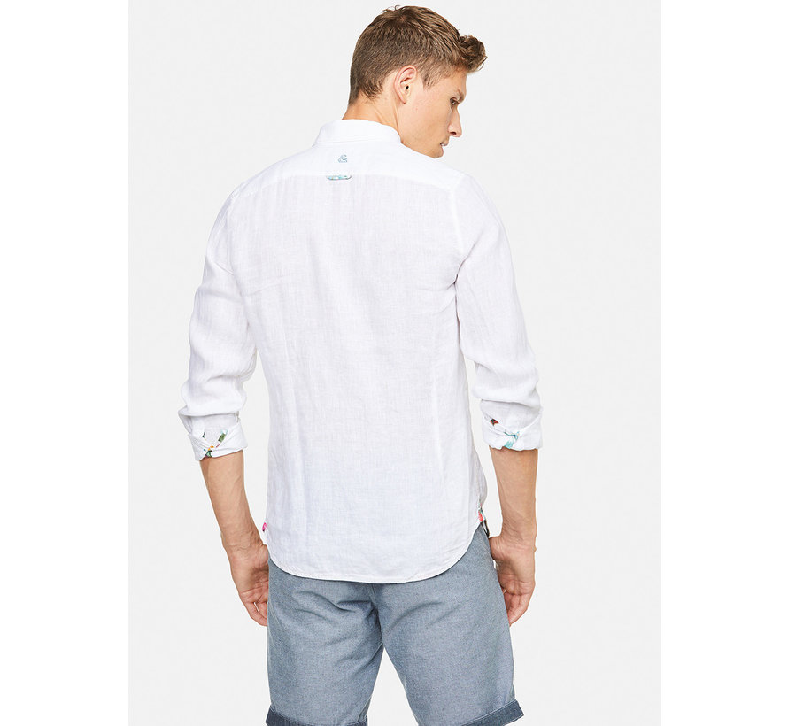 Overhemd Liam Linnen Wit (9121-210 - 211)