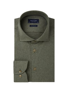 Profuomo Overhemd Single Jersey Knitted Groen (PP0H0A058)N