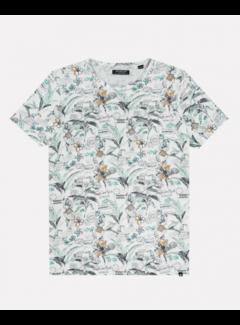 Dstrezzed T-shirt Ronde Hals Print Wit (202640 - 100)