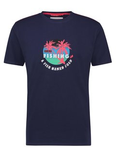 A Fish Named Fred T-Shirt Fishing Navy (22.03.429)