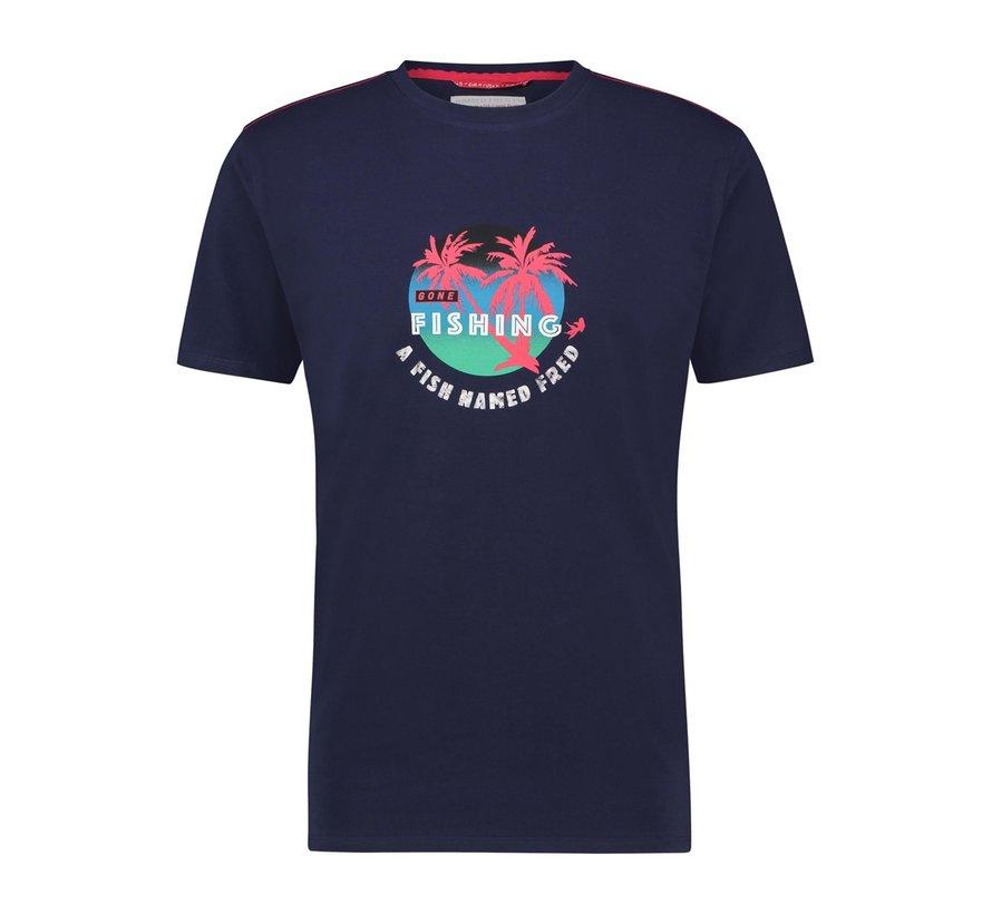 T-Shirt Fishing Navy (22.03.429)