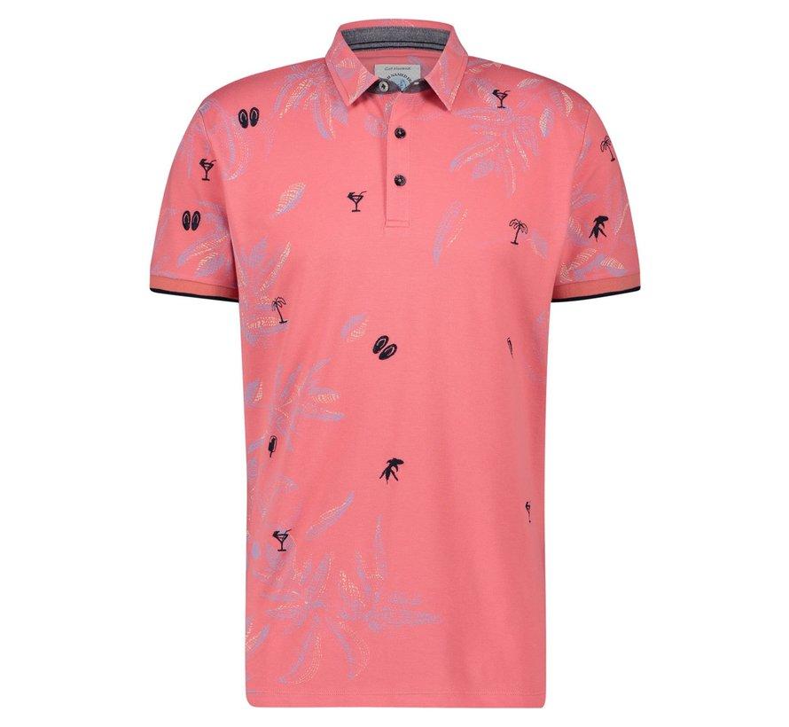 Korte Mouw Polo Festival Pink (22.03.304)