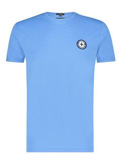 Haze&Finn T-shirt Ronde Hals Azure Blauw (MU15-0010 - AzureBlue)