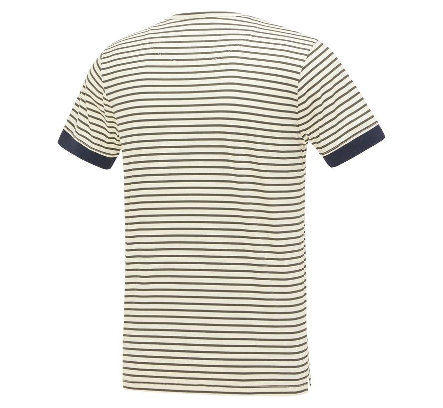 T-shirt Streep Groen (KBIS21 - M41)