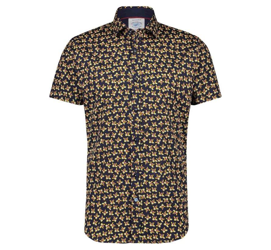 Korte Mouw Overhemd Navy (22.03.058)
