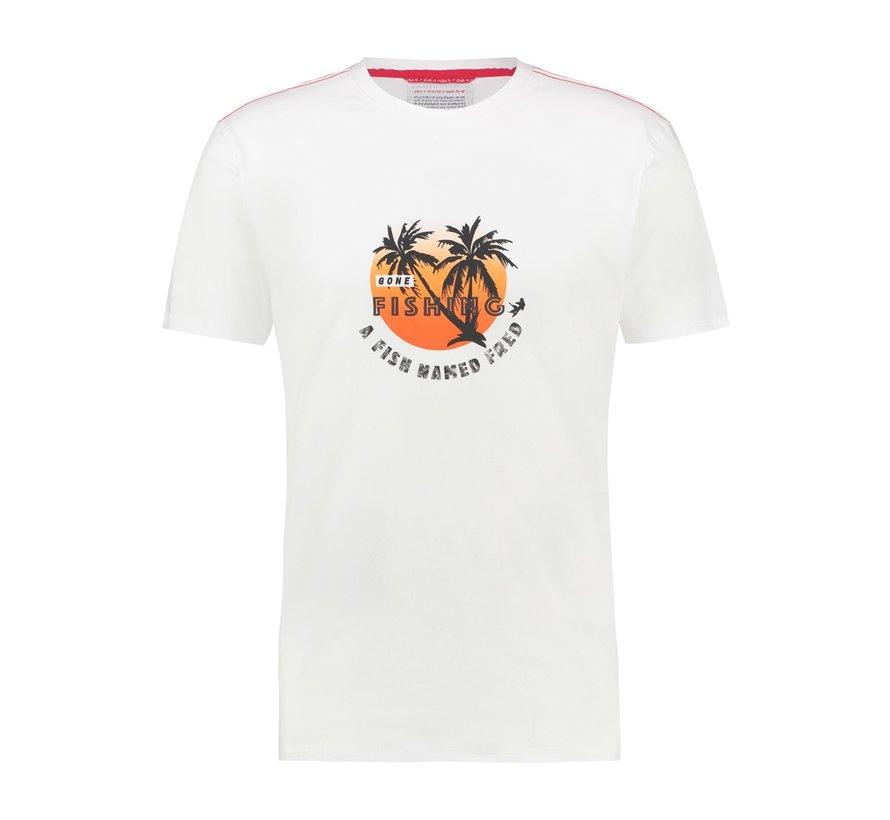 T-Shirt Fishing White (22.03.427)