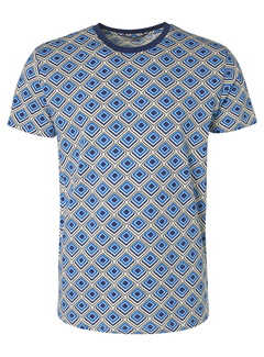 No Excess T-shirt All Over Printed Blue (95340306 - 166)