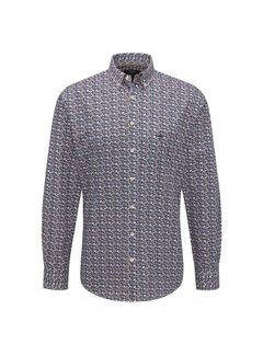 Fynch Hatton Overhemd Print Geel (1219 5060 - 5064)