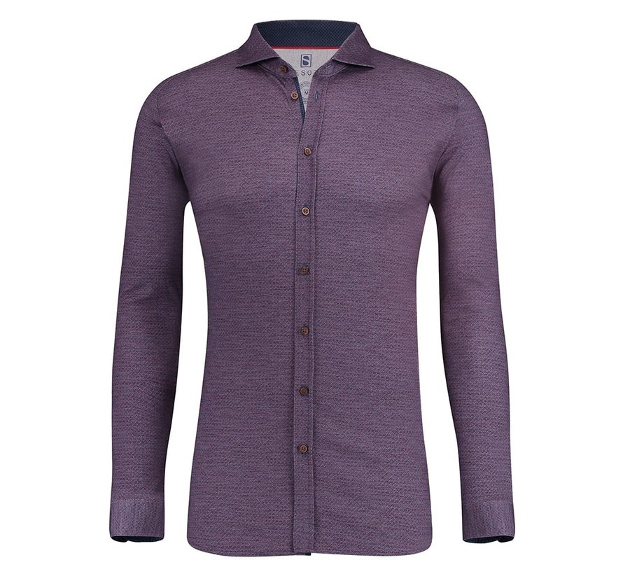 Desoto Jersey Overhemd Print Rood/Blauw (80108-3 - 44)