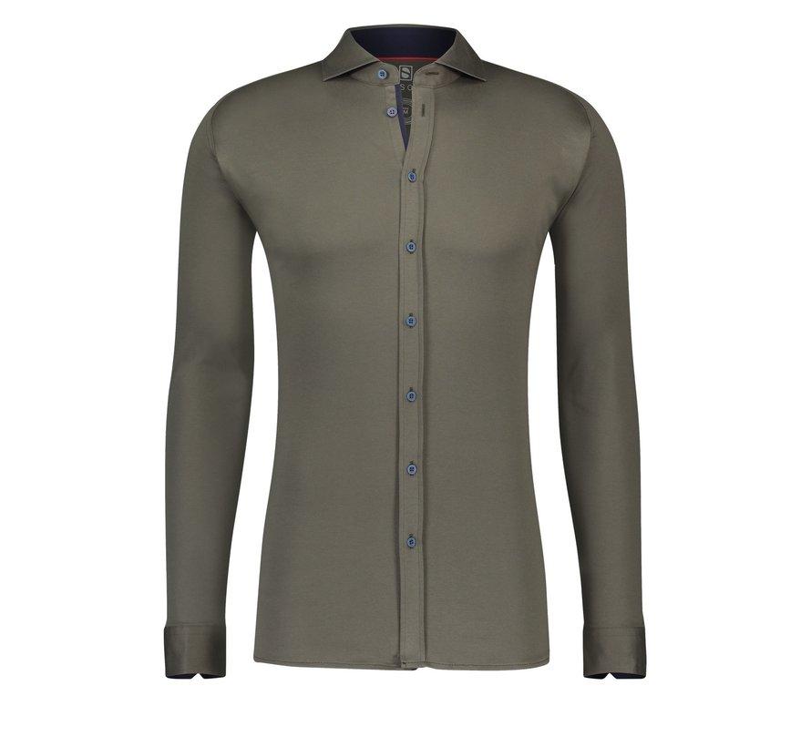 Desoto Jersey Overhemd Groen (70008-3 - 60)