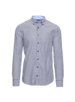 Fynch Hatton Overhemd Streep Blauw (1120 6020 - 6023)