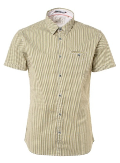 No Excess Overhemd Korte Mouw Printed Cube Shirt Gold (91490407 - 073)