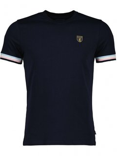 Cavallaro Napoli T-shirt GELATO Navy Blauw (117211008-699000)