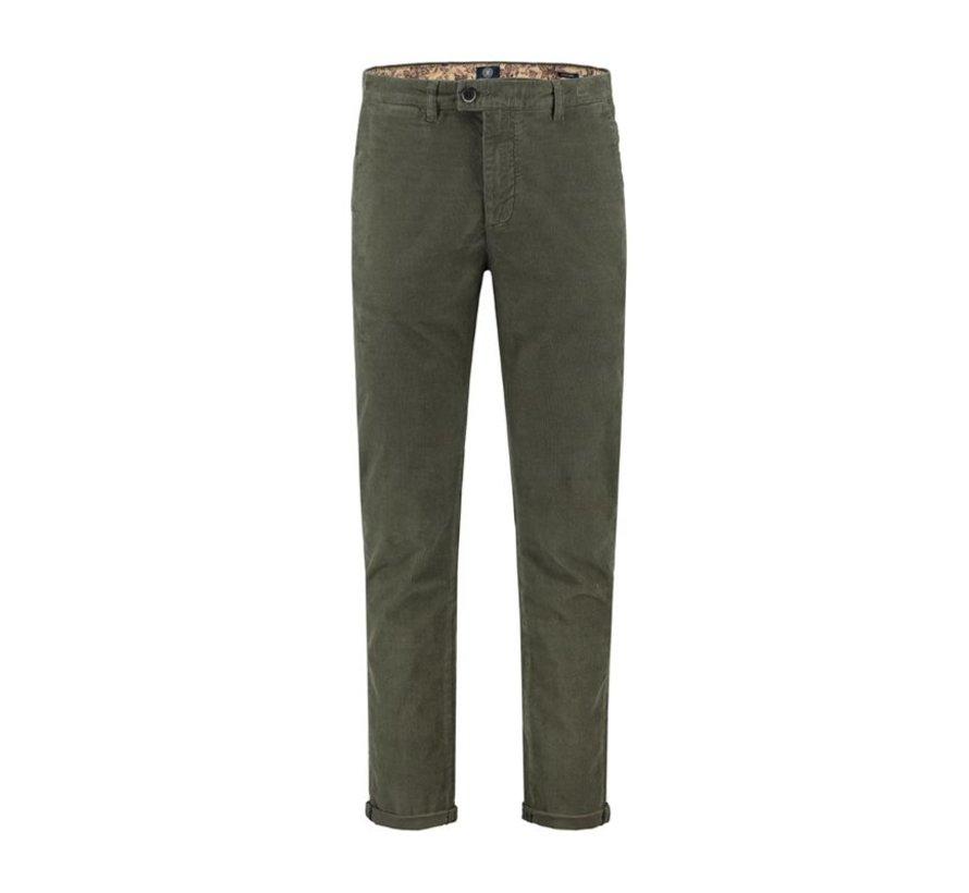Chino Pants Washed Ribcord Groen (501326 - 524)