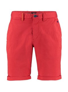 New Zealand Auckland Korte Broek Chino Whale Bay Fury Rood (21CN620 - 606)