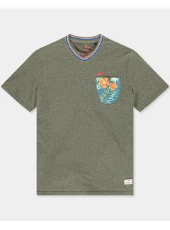 New Zealand Auckland T-shirt V-Hals Te Arai Auckland Army (21CN701 - 500)