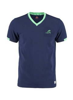 New Zealand Auckland T-shirt V-Hals Pembroke Native Navy (21CN702 - 281)