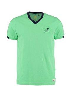 New Zealand Auckland T-shirt V-Hals Pembroke Calcite Groen  (21CN702 - 505)
