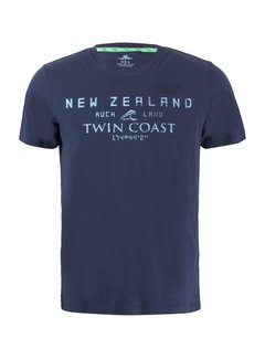 New Zealand Auckland T-shirt Korte Mouw Leeston Native Navy (21CN709 - 281)
