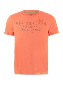 New Zealand Auckland T-shirt Korte Mouw Leeston Pepper Oranje (21CN709 - 607)