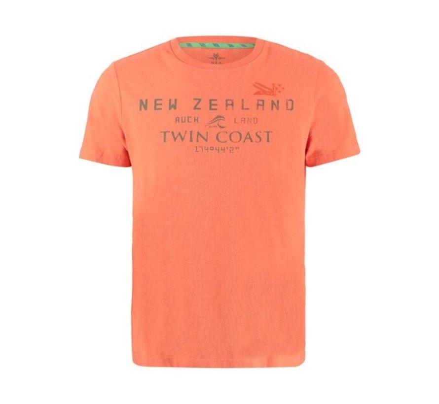 T-shirt Korte Mouw Leeston Pepper Oranje (21CN709 - 607)