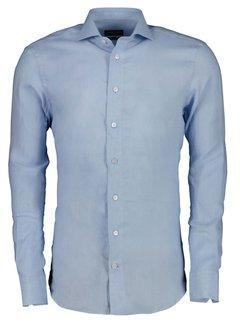 Cavallaro Napoli Overhemd Leo Linnen Light Blue (110211057 - 600000)