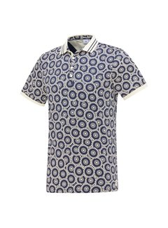 Blue Industry Polo Print Blue (KBIS21 - M34)