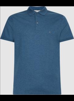 Calvin Klein Polo Korte Mouw Slim Fit Gemêleerd Blauw (K10K107090 - DU0)