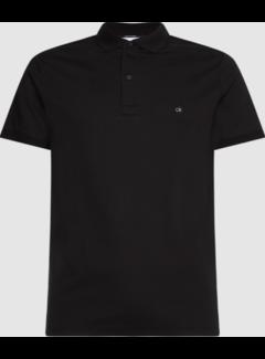 Calvin Klein Polo Korte Mouw Slim Fit Zwart (K10K107090 - BEH)