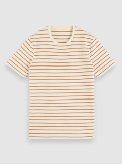 Scotch & Soda T-shirt Ronde Hals Streep Oranje (162372 - 0218)