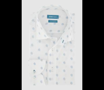 District Indigo Overhemd Fingerprint Blauw/Wit (7.11.045.729 - 307)