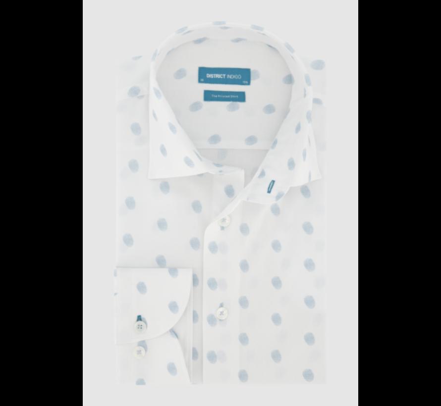 Overhemd Fingerprint Blauw/Wit (7.11.045.729 - 307)