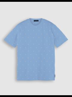 Scotch & Soda T-shirt Print Blauw (160847 - 0591)
