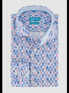 District Indigo Overhemd Print (7.11.026.744 - 318)