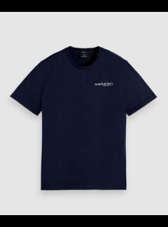 Scotch & Soda T-shirt Organic Cotton Logo Navy (162883 - 0002)