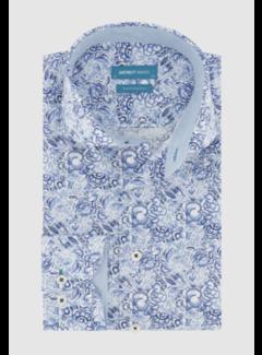 District Indigo Overhemd Print Blauw (7.11.025.709 - 304)