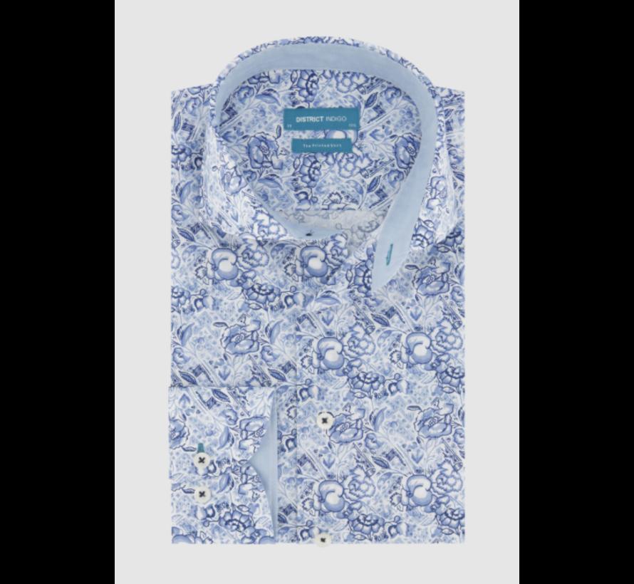 Overhemd Print Blauw (7.11.025.709 - 304)