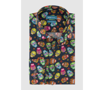District Indigo Overhemd Print Multicolor (7.11.045.740 - 310)