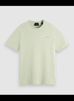 Scotch & Soda T-shirt Organic Cotton Logo Lichtgroen (162883 - 0514)