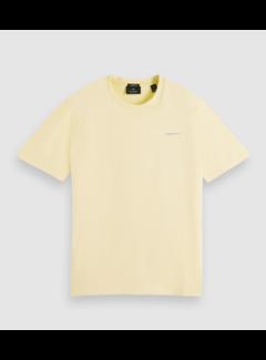 Scotch & Soda T-shirt Organic Cotton Logo Geel (162883 - 4189)