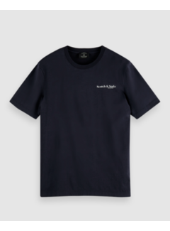 Scotch & Soda T-shirt Jersey Navy Blauw (162367 - 0002)