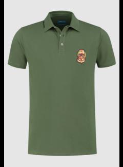 District Indigo Polo Korte Mouw Army Groen (7.11.401.400 - 074)