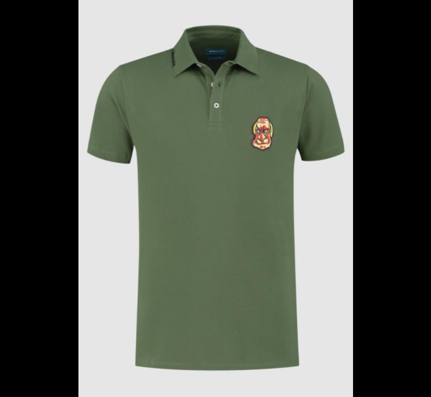 Polo Korte Mouw Army Groen (7.11.401.400 - 074)