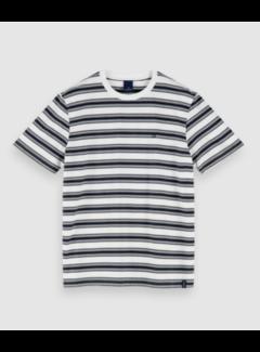 Scotch & Soda T-shirt Gestreept Zwart/Wit (155403 - 0587)