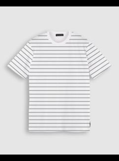 Scotch & Soda T-shirt Gestreept Wit (160847 - 0590)