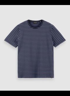 Scotch & Soda T-shirt Gestreept Navy (160847 - 0220)