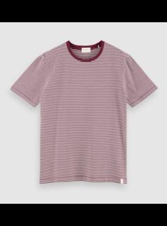 Scotch & Soda T-shirt Gestreept Bordeaux (160847 - 0221)
