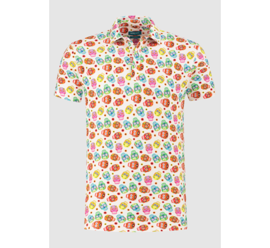 Polo Korte Mouw Print Schedels Multicolor (7.11.401.403 - 307)