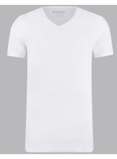 Garage Basic T-shirts 2-pack V-hals Bio Cotton Bodyfit Wit (0222 - 100)